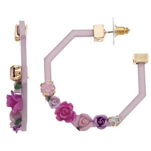 Betsey Johnson Floral Hoops